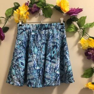 4/$20☀️ Wet Seal Blue Patterned Mini Skirt
